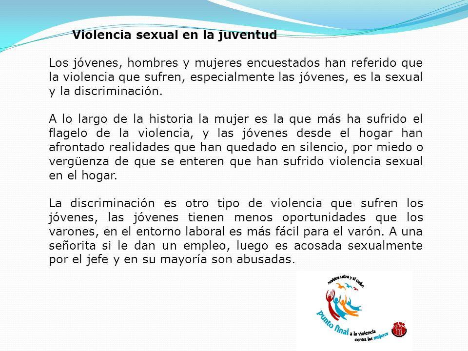 Violencia sexual en la juventud