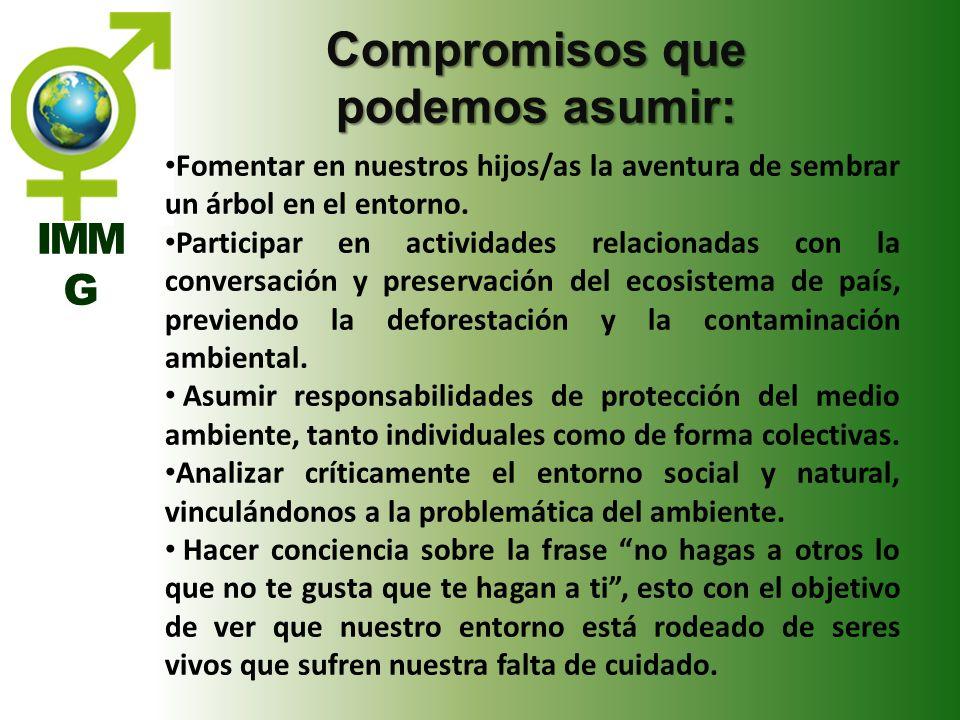 Compromisos que podemos asumir: