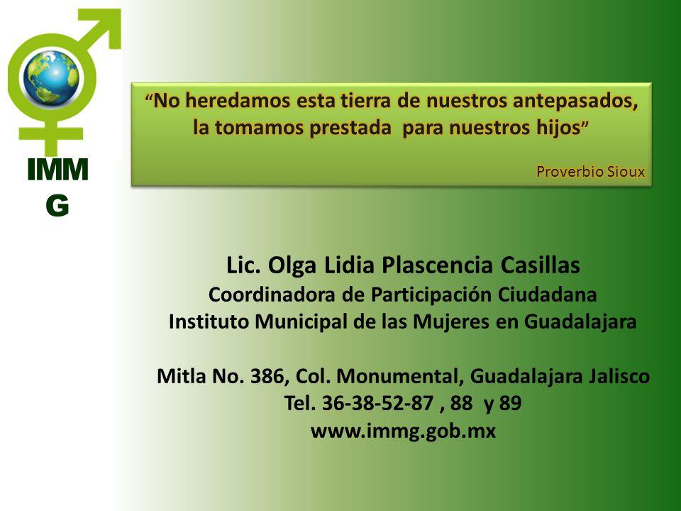 IMM G Lic. Olga Lidia Plascencia Casillas