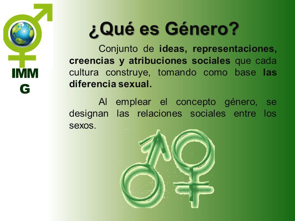 ¿Qué es Género