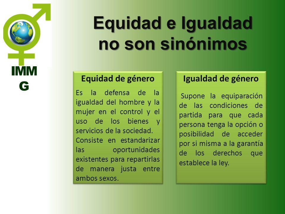 Equidad e Igualdad no son sinónimos