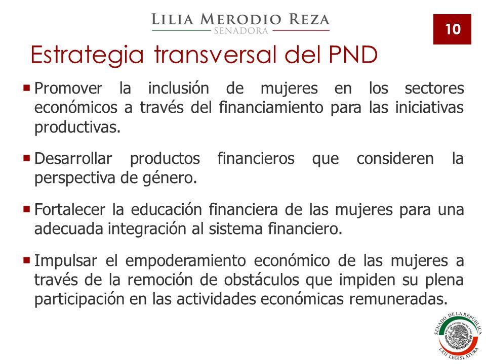 Estrategia transversal del PND