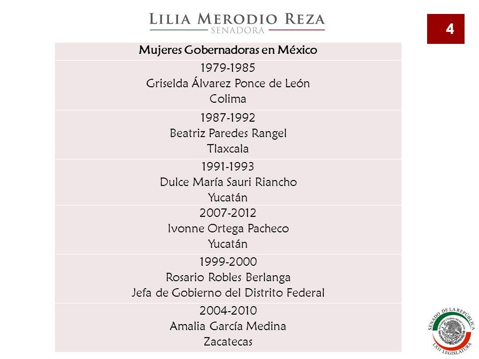 Mujeres Gobernadoras en México