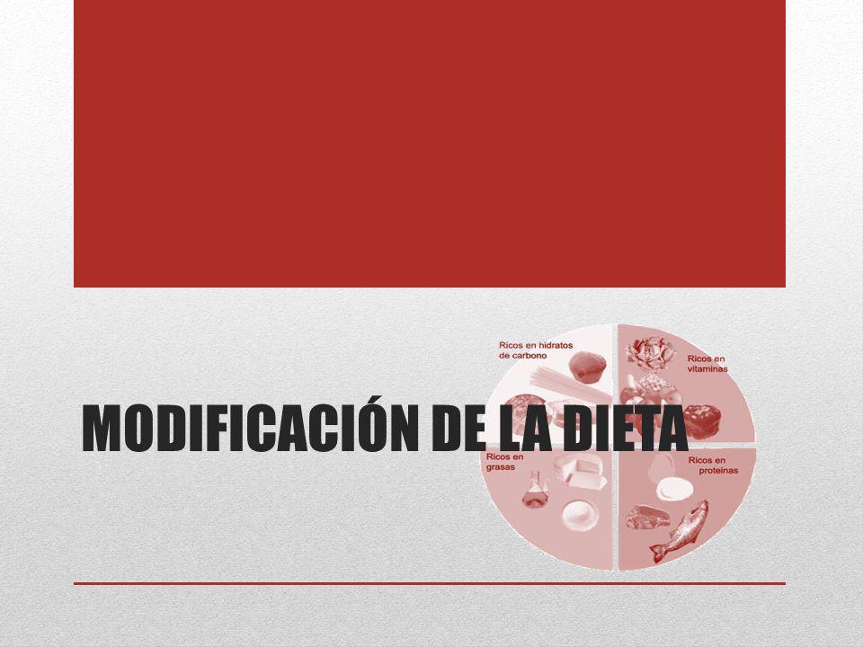 Modificación de la dieta