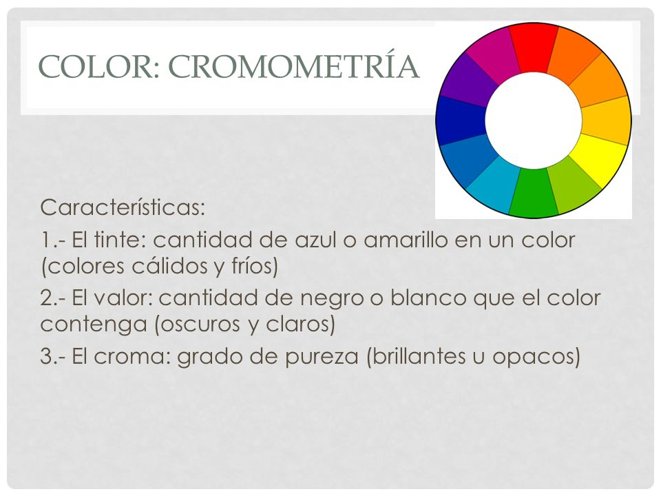 Color: Cromometría