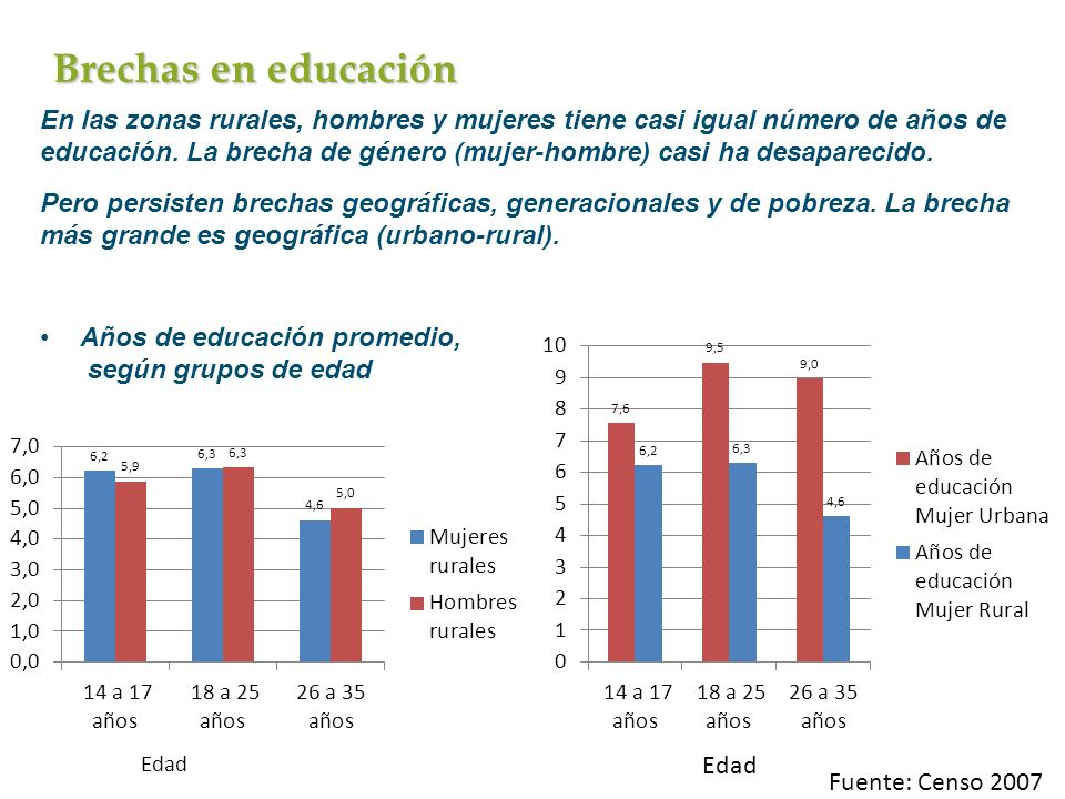 Brechas en educación