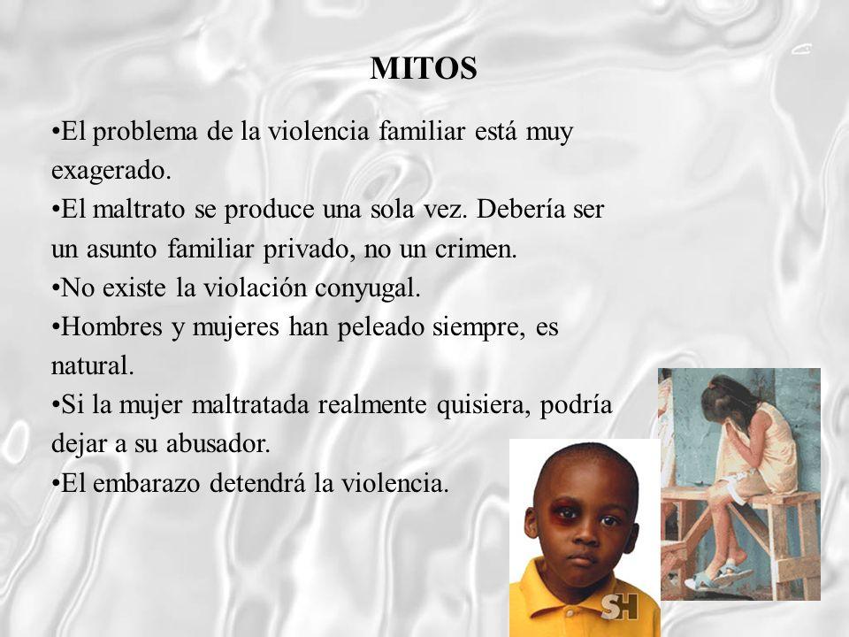 MITOS El problema de la violencia familiar está muy exagerado.