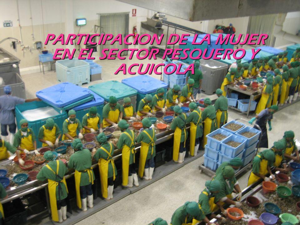 PARTICIPACION DE LA MUJER EN EL SECTOR PESQUERO Y ACUICOLA