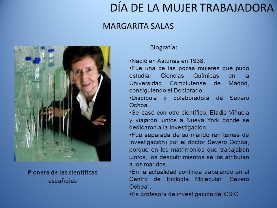 Pionera de las científicas españolas
