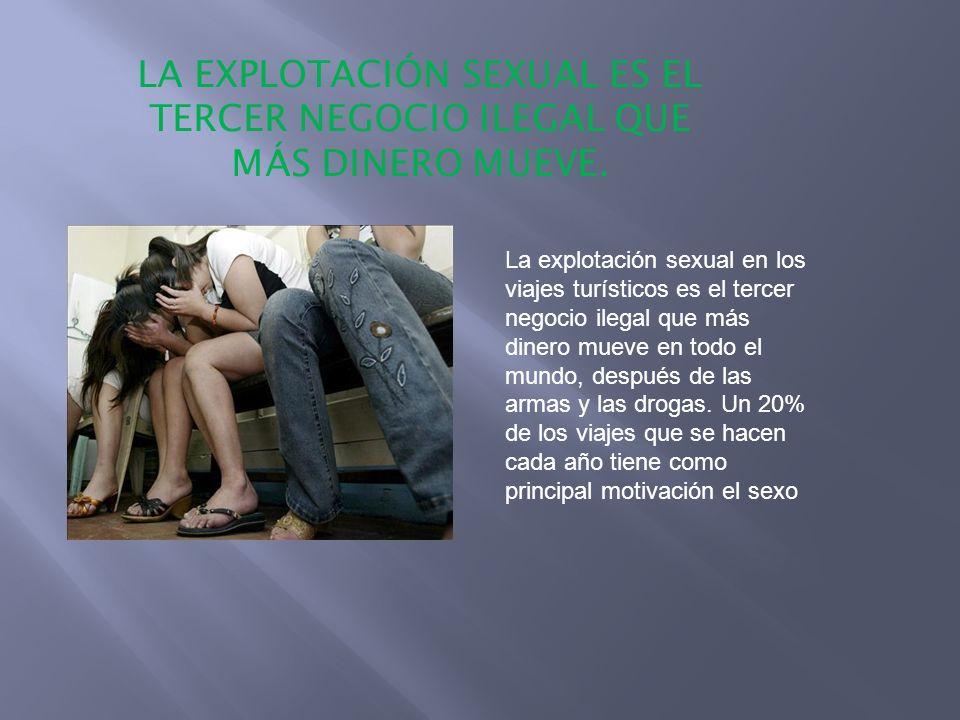 LA EXPLOTACIÓN SEXUAL ES EL TERCER NEGOCIO ILEGAL QUE MÁS DINERO MUEVE.