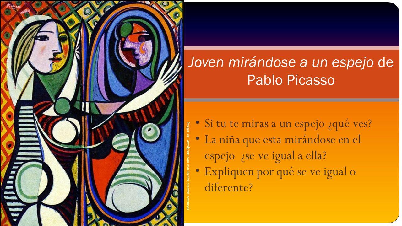 Joven mirándose a un espejo de Pablo Picasso