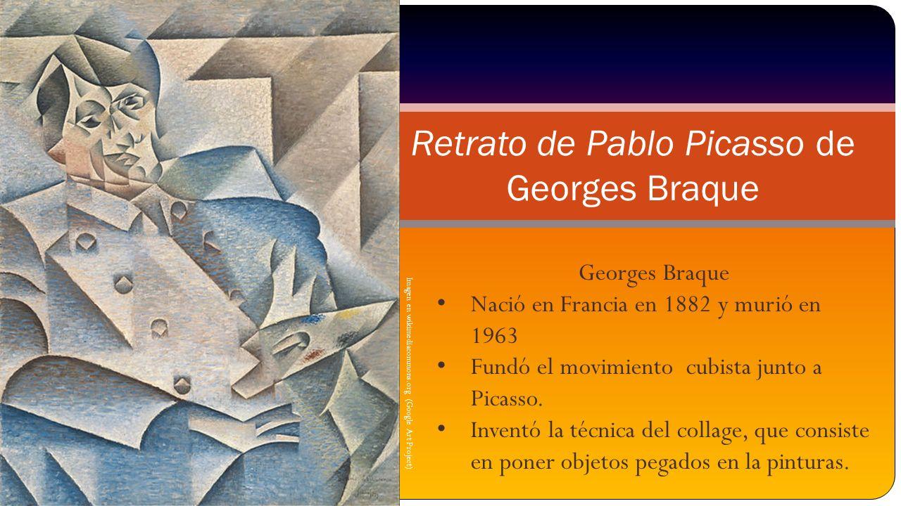 Retrato de Pablo Picasso de Georges Braque