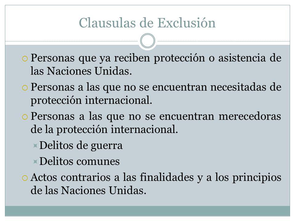 Clausulas de Exclusión