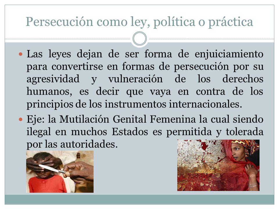 Persecución como ley, política o práctica