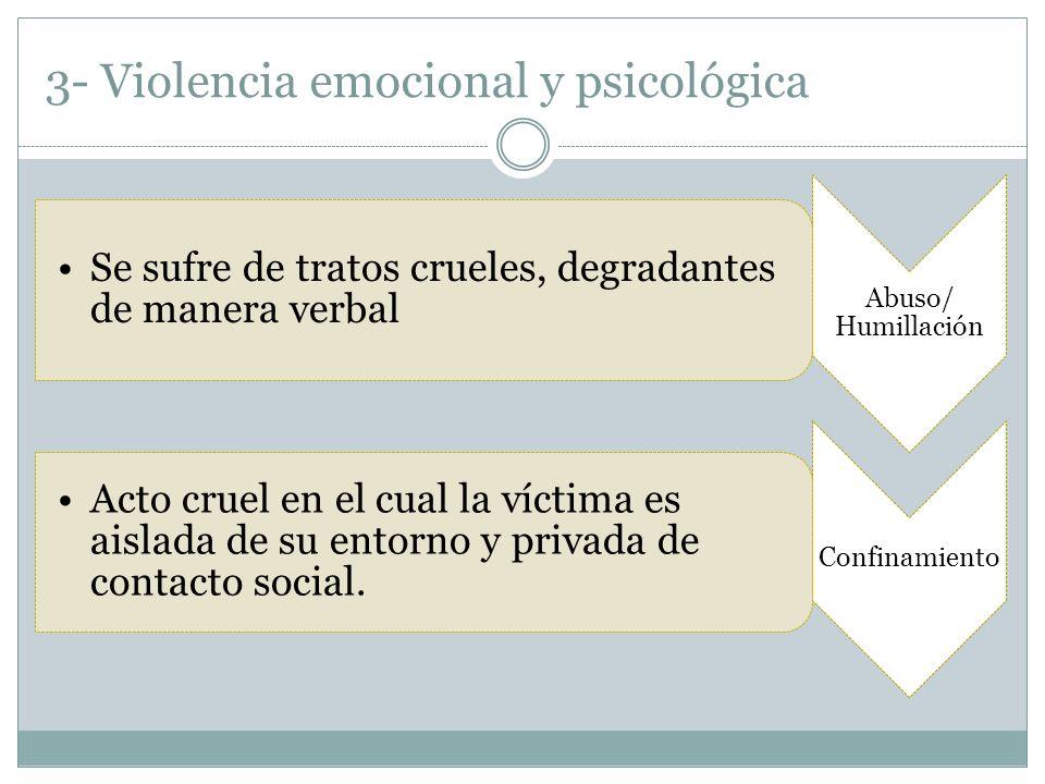 3- Violencia emocional y psicológica