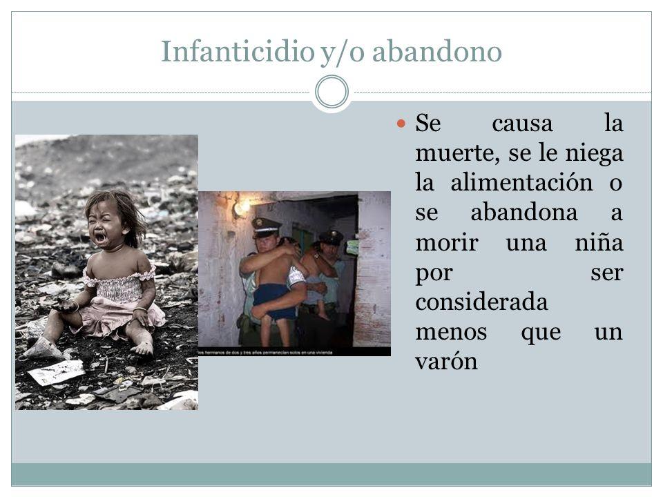 Infanticidio y/o abandono