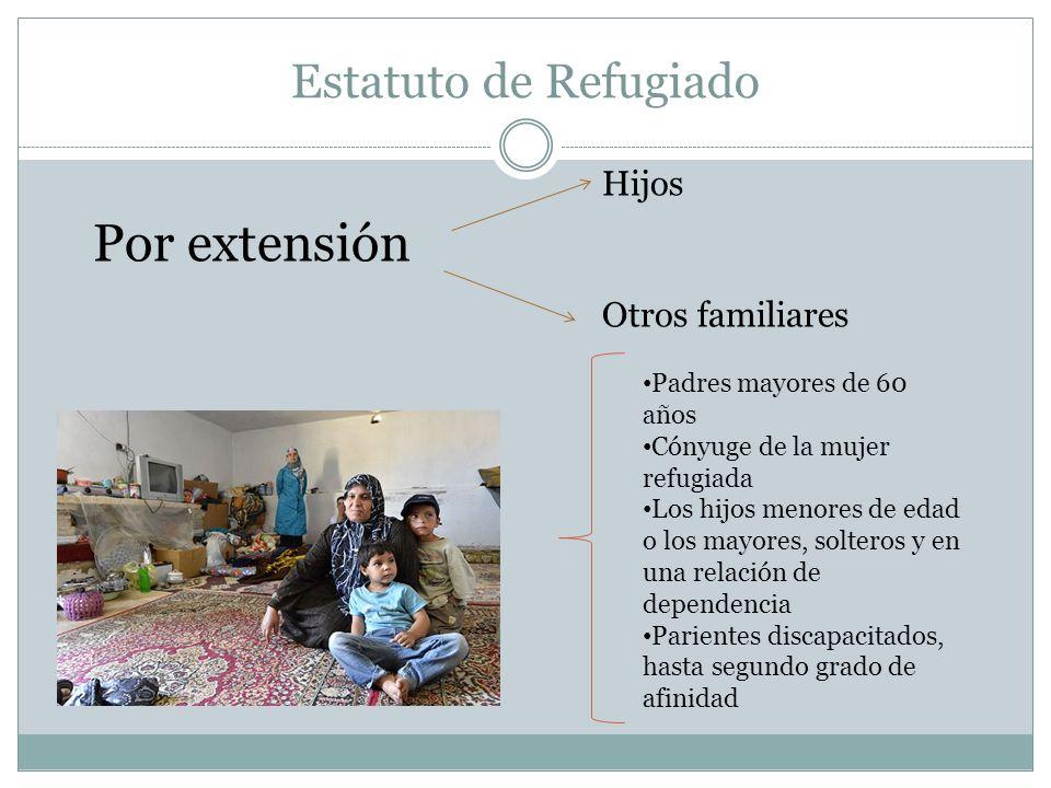 Por extensión Estatuto de Refugiado Hijos Otros familiares