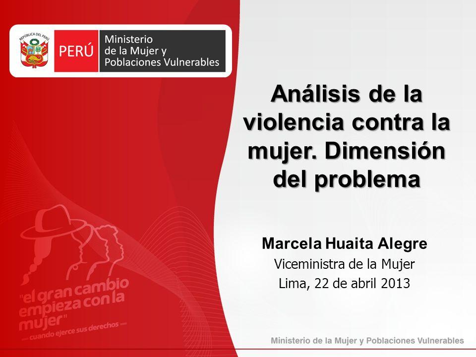 Análisis de la violencia contra la mujer. Dimensión del problema