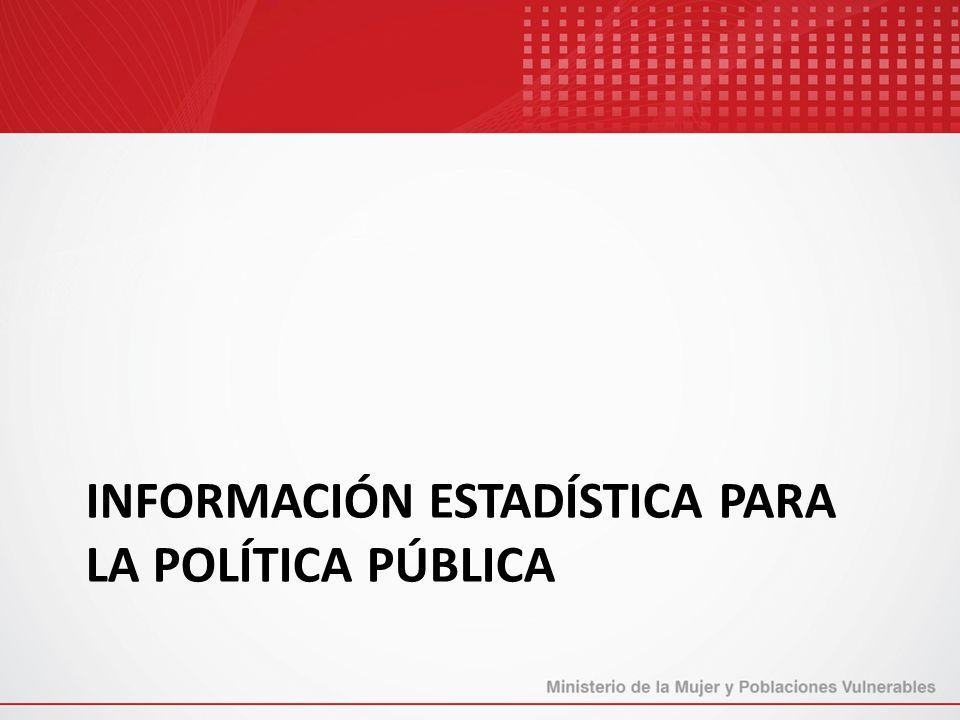 Información estadística para la política pública