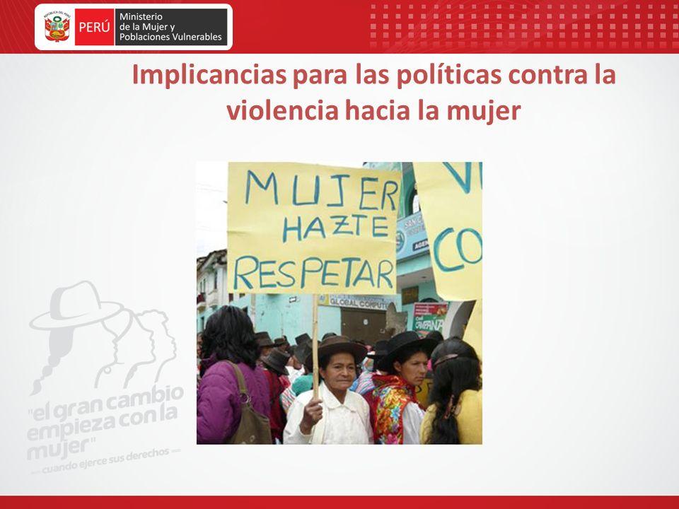 Implicancias para las políticas contra la violencia hacia la mujer