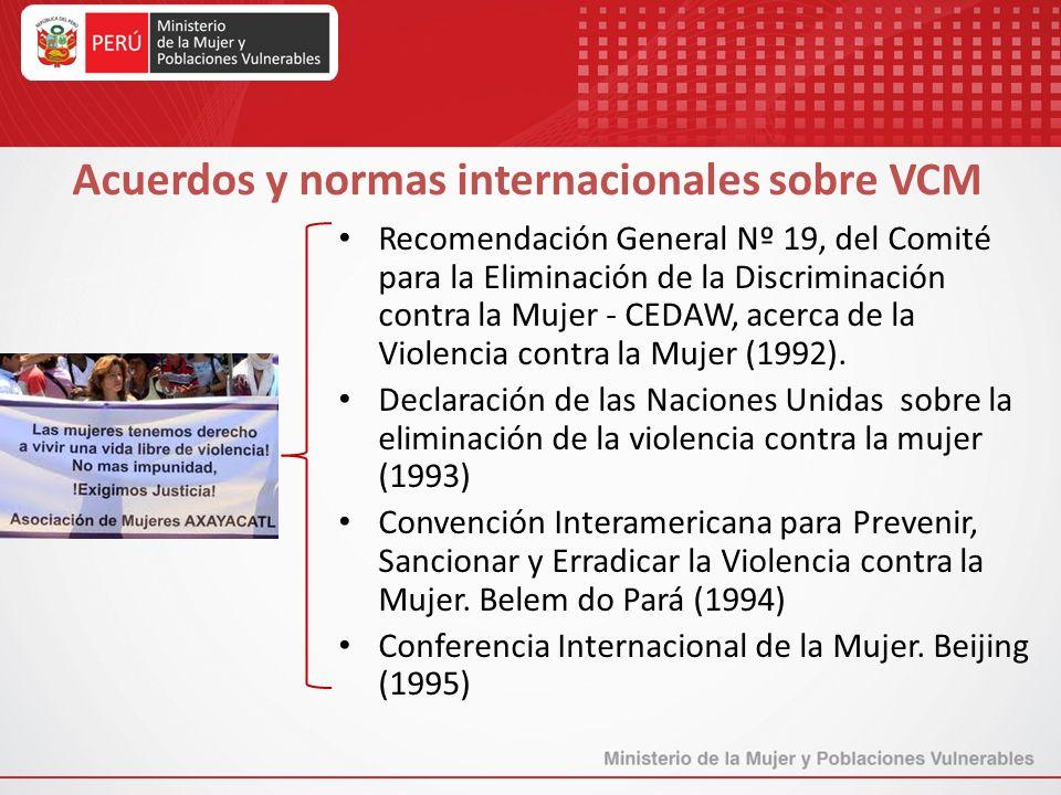 Acuerdos y normas internacionales sobre VCM