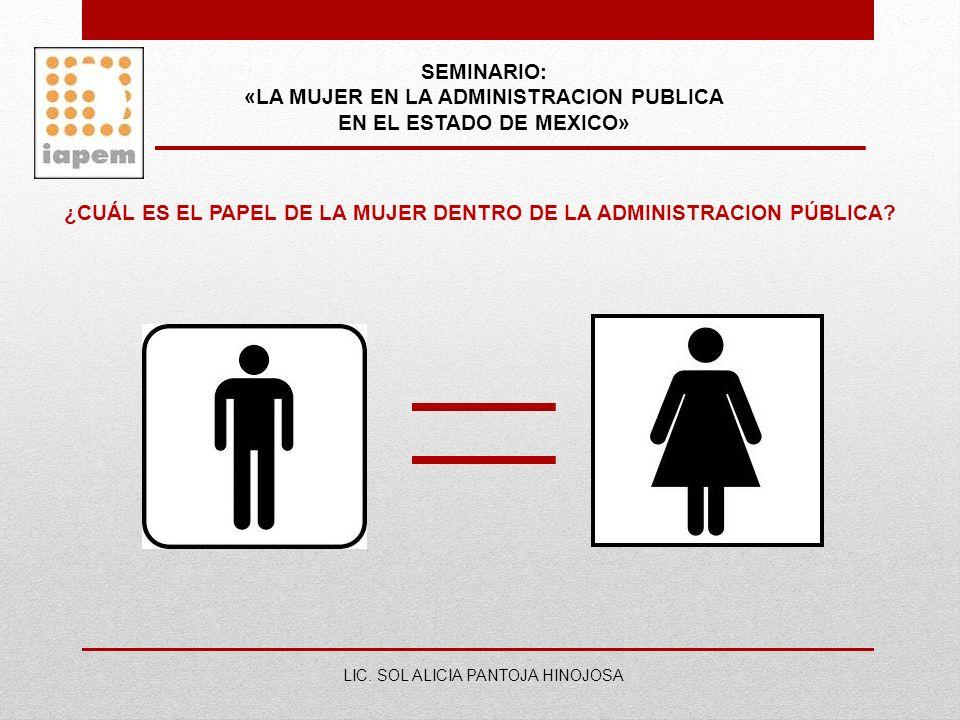 «LA MUJER EN LA ADMINISTRACION PUBLICA EN EL ESTADO DE MEXICO»