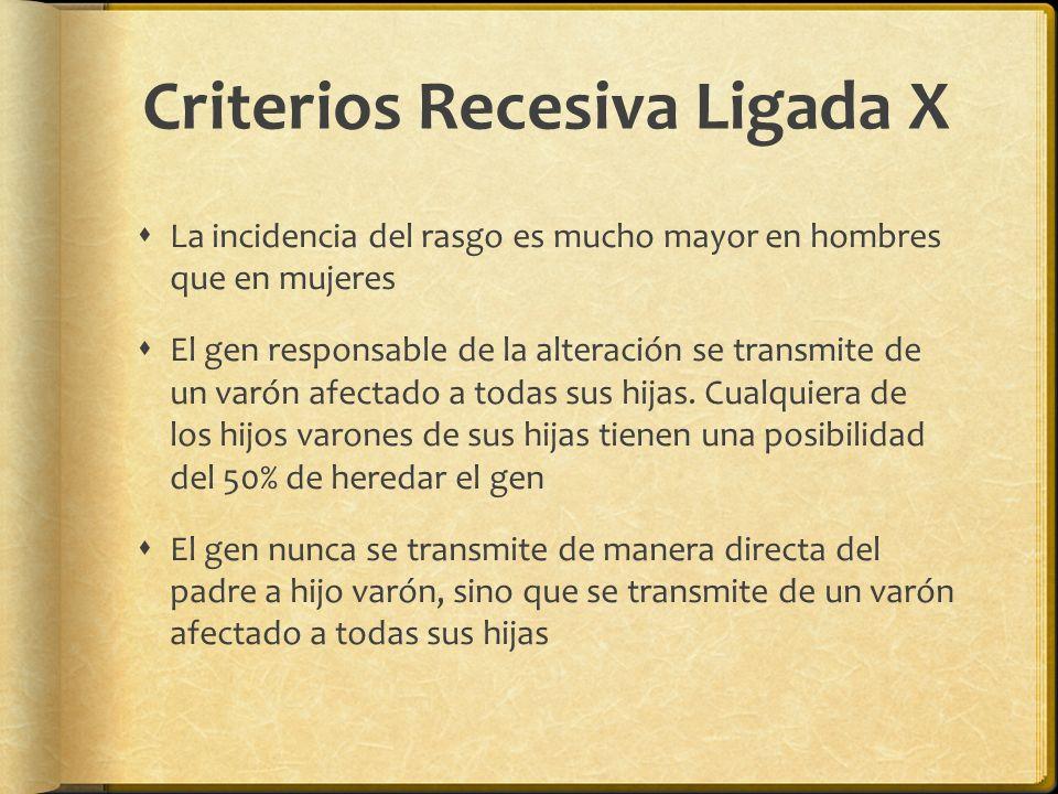 Criterios Recesiva Ligada X