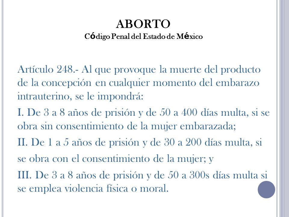 ABORTO Código Penal del Estado de México