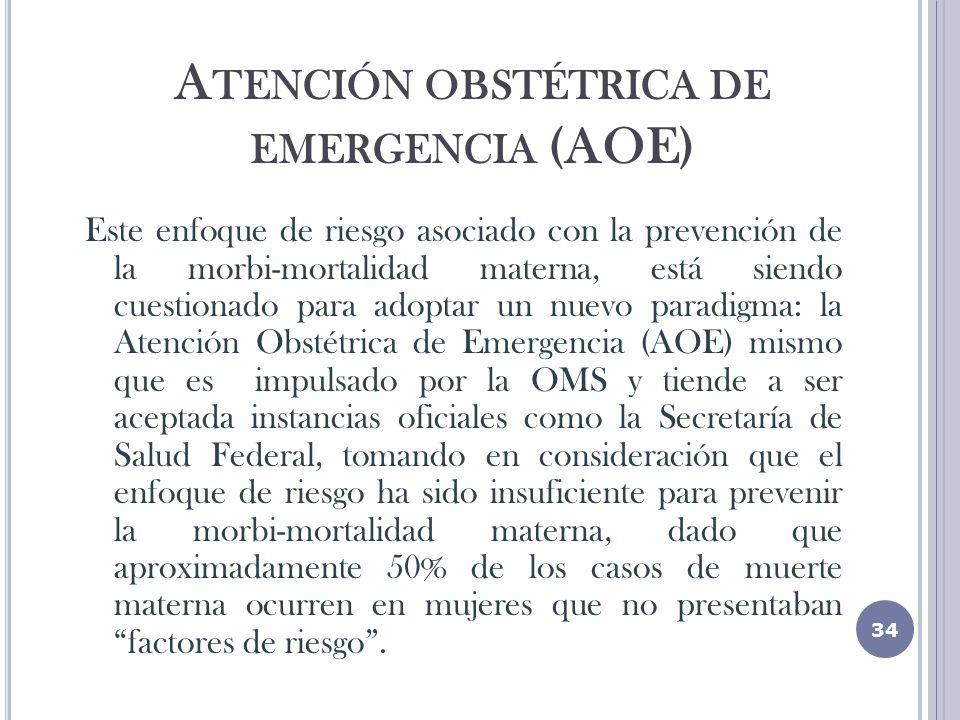 Atención obstétrica de emergencia (AOE)