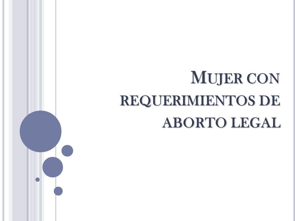 Mujer con requerimientos de aborto legal