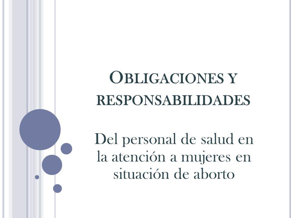Obligaciones y responsabilidades