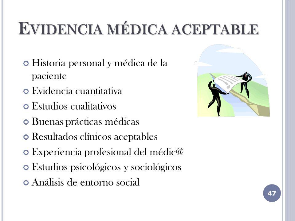 Evidencia médica aceptable