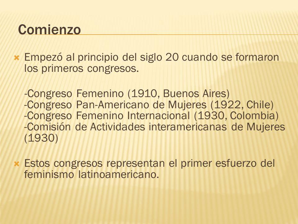 Comienzo Empezó al principio del siglo 20 cuando se formaron los primeros congresos.
