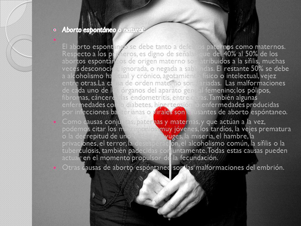Aborto espontáneo o natural: