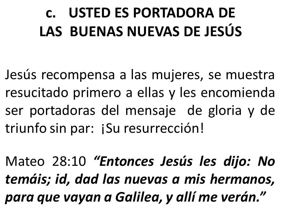 LAS BUENAS NUEVAS DE JESÚS