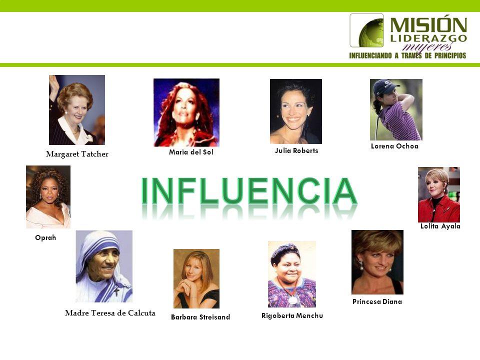 Influencia Lorena Ochoa Maria del Sol Julia Roberts Margaret Tatcher