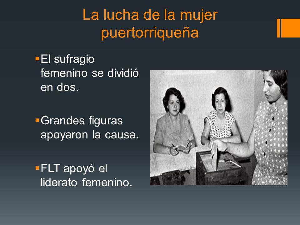 La lucha de la mujer puertorriqueña