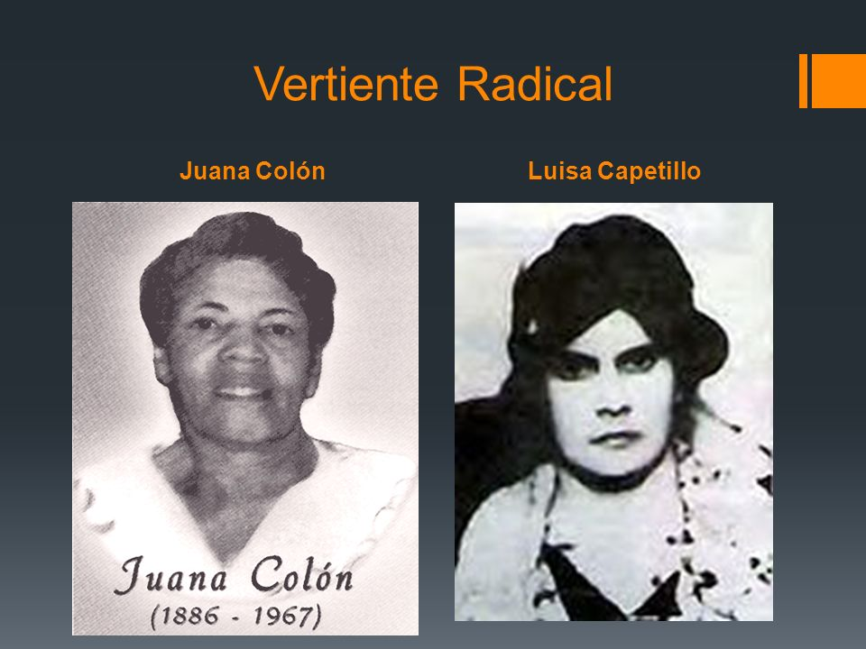 Vertiente Radical Juana Colón Luisa Capetillo