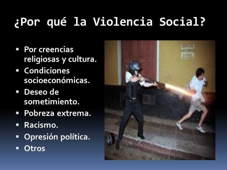 ¿Por qué la Violencia Social