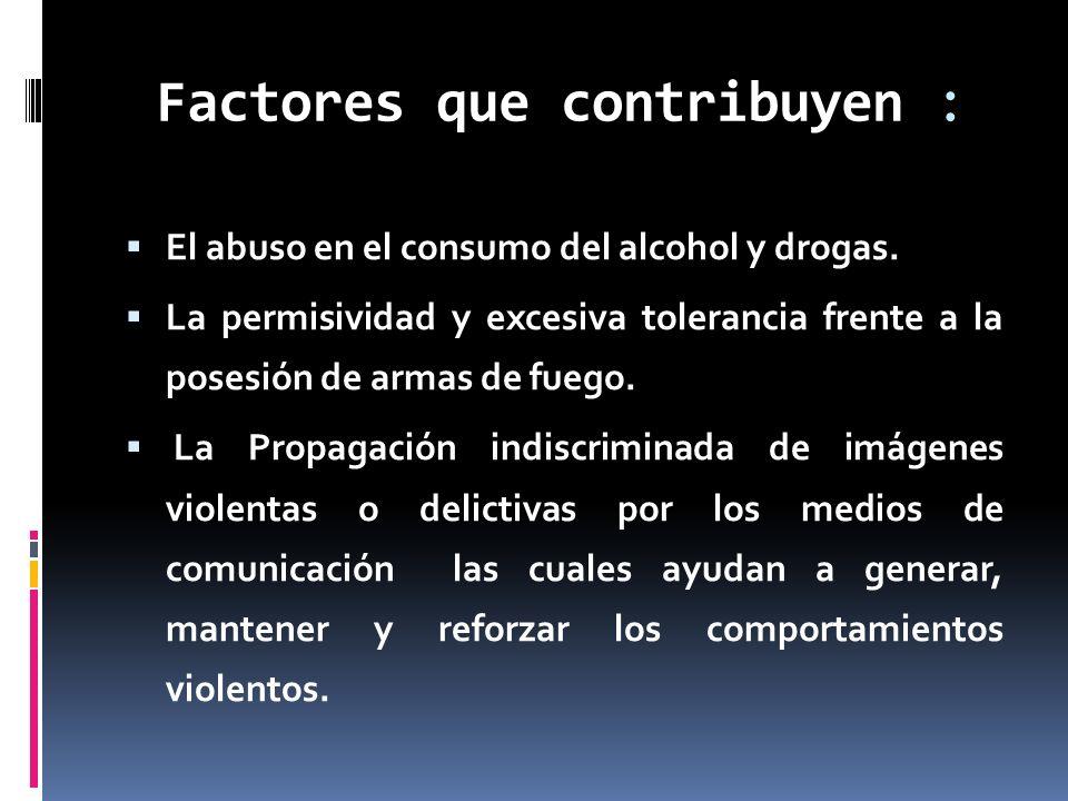 Factores que contribuyen :
