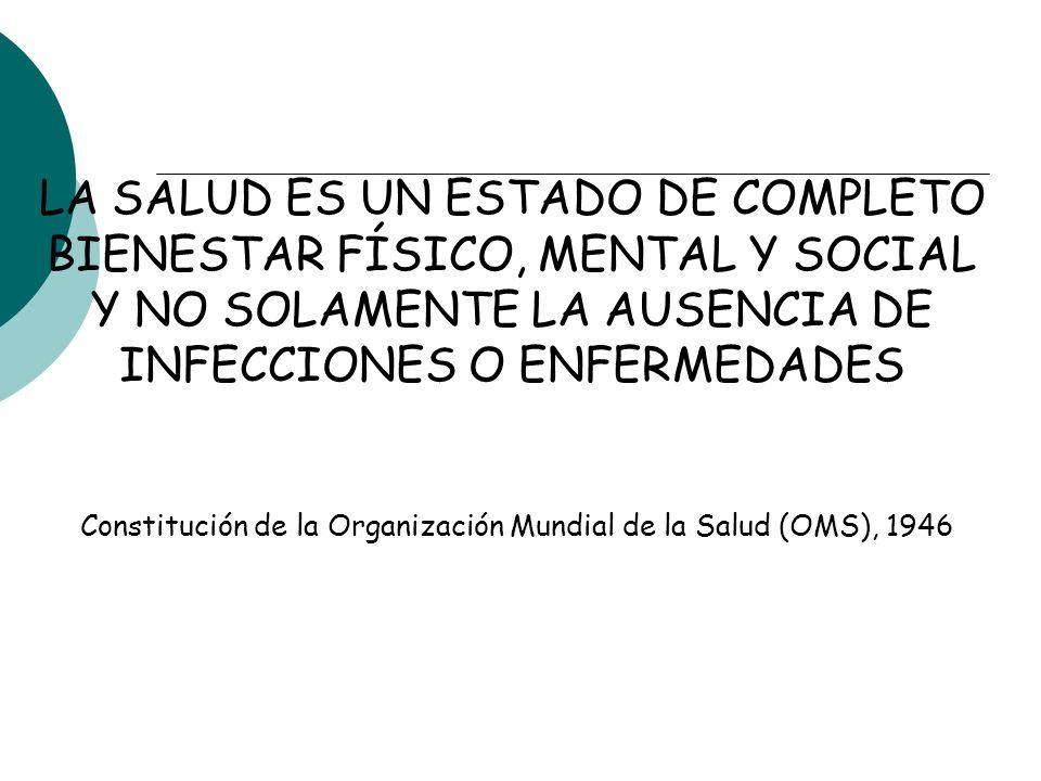 LA SALUD ES UN ESTADO DE COMPLETO BIENESTAR FÍSICO, MENTAL Y SOCIAL