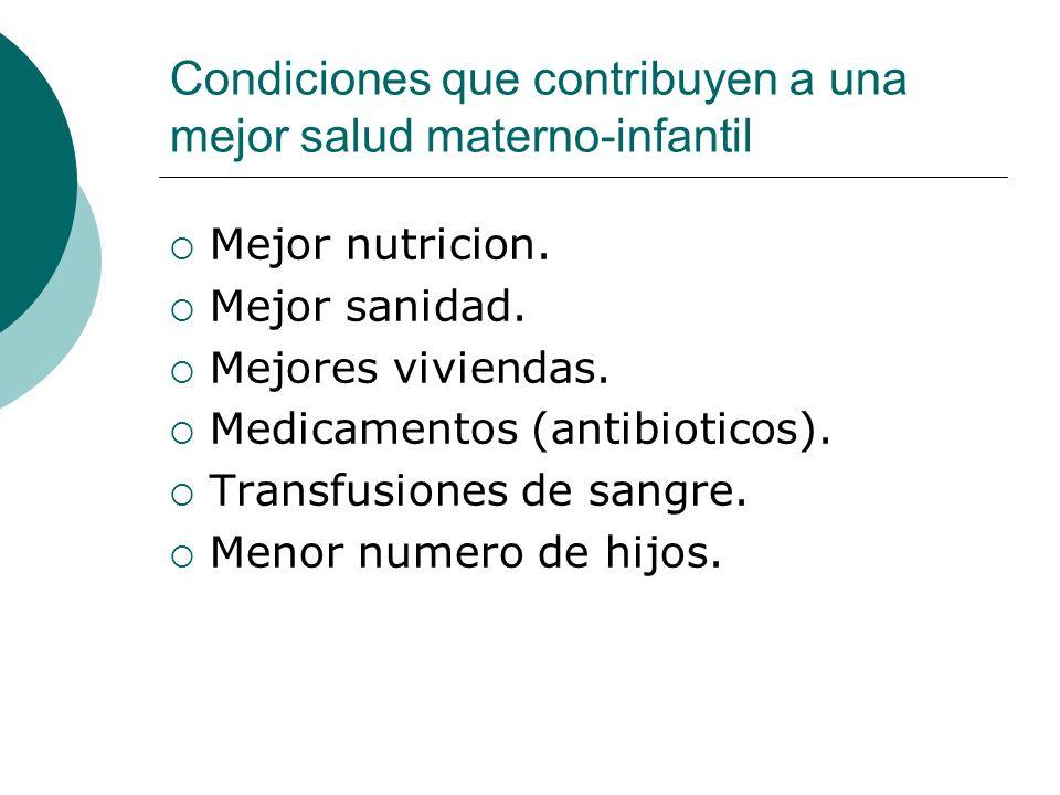 Condiciones que contribuyen a una mejor salud materno-infantil