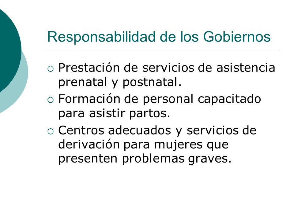 Responsabilidad de los Gobiernos