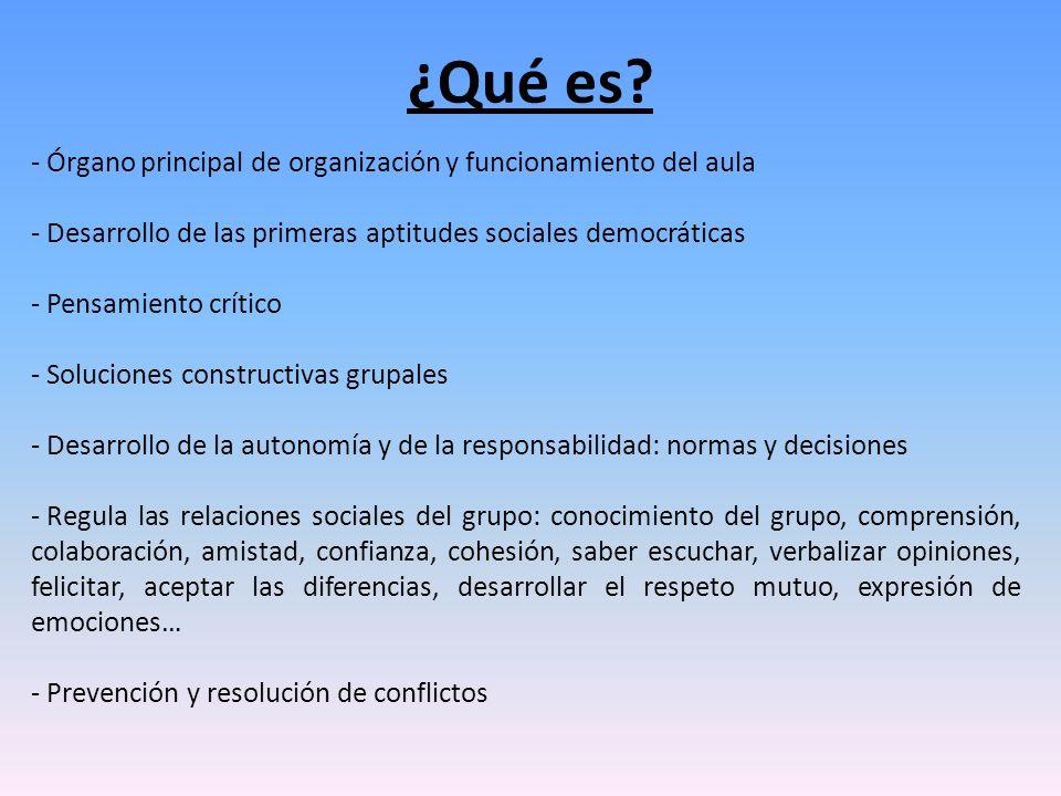 ¿Qué es Órgano principal de organización y funcionamiento del aula