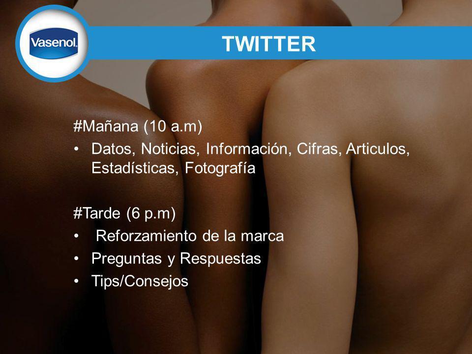 TWITTER #Mañana (10 a.m) Datos, Noticias, Información, Cifras, Articulos, Estadísticas, Fotografía.