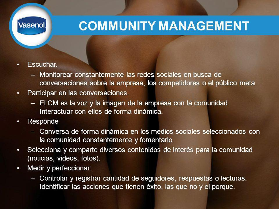COMMUNITY MANAGEMENT Escuchar.