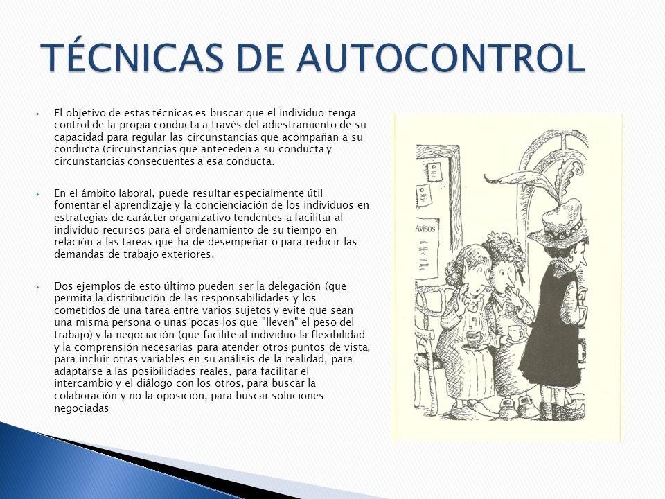 TÉCNICAS DE AUTOCONTROL