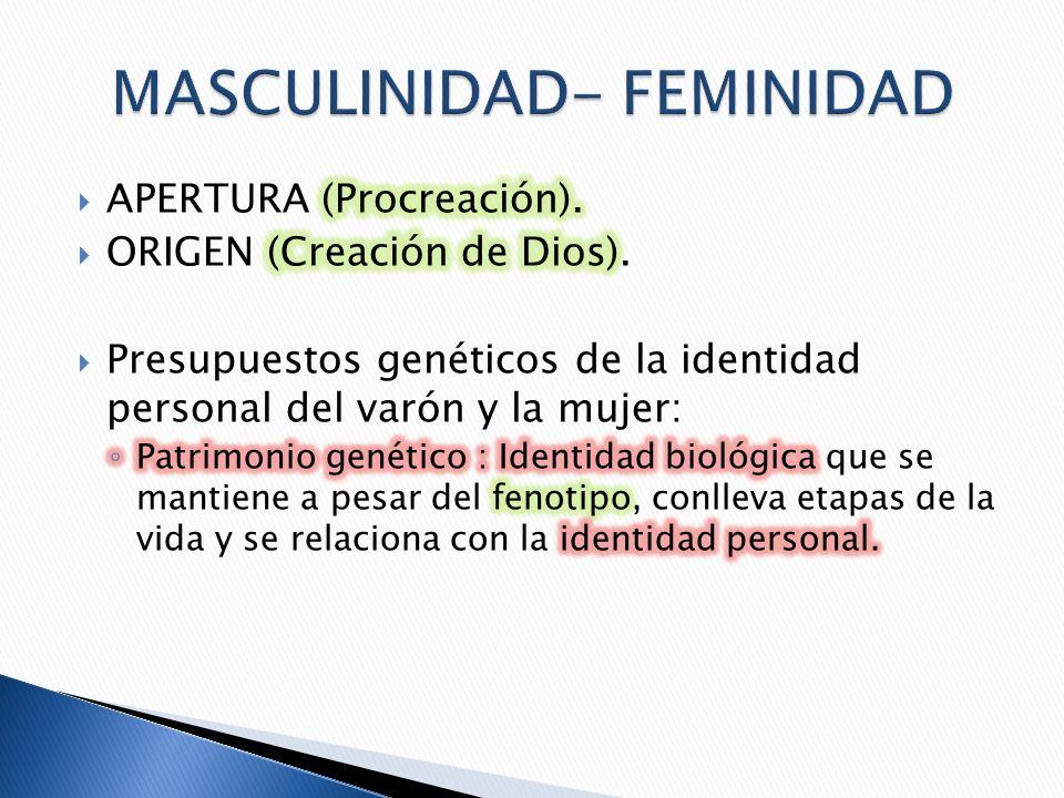 MASCULINIDAD- FEMINIDAD