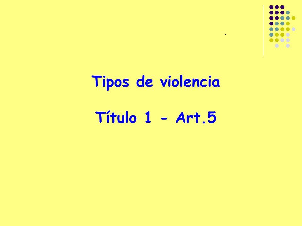Tipos de violencia Título 1 - Art.5