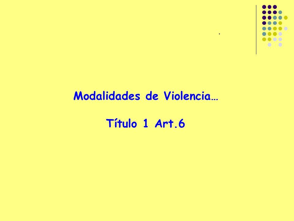 Modalidades de Violencia…